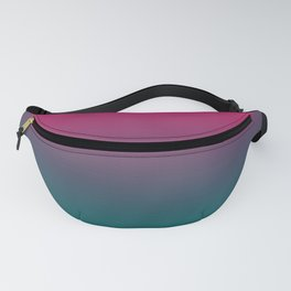 Pink Green Gradient Pattern Fanny Pack
