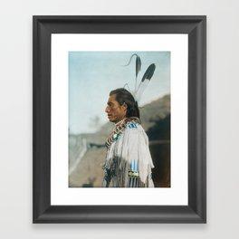 Crow's Heart - Mandan - American Indian Framed Art Print