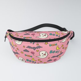 Happy Halloween ghosts, bats, boo and sweets pattern Fanny Pack