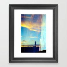 Triple Sunset Framed Art Print
