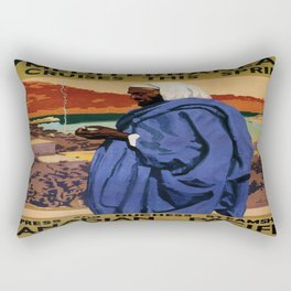 Vintage poster - Mediterranean Cruises Rectangular Pillow