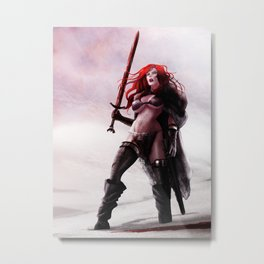 Red sonja in the vanaheim  plains Metal Print