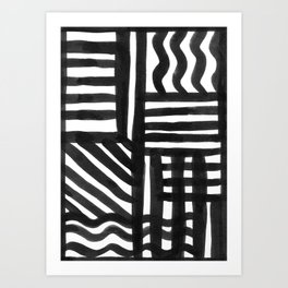 Ink Pattern Art Print