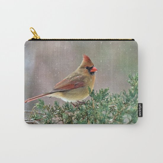 Waiting for Christmas Cardinal Carry-All Pouch
