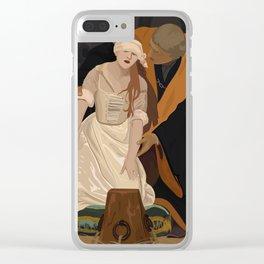 Lady Jane Grey illustration Clear iPhone Case