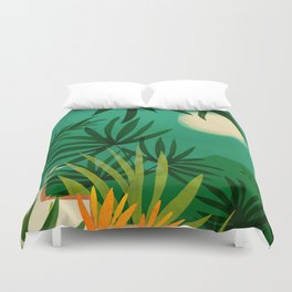 Exotic Garden Nightscape Duvet Cover