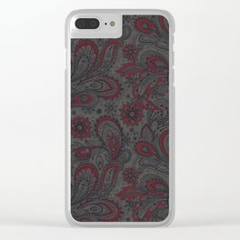 Jacobean Clear iPhone Case