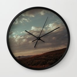 Ghost Town Road Wall Clock