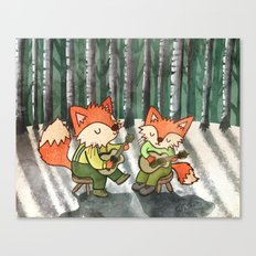 Fox Duo Canvas Print