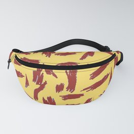 Red PaintStrokes Fanny Pack