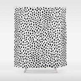 Dalmatian Spots (black/white) Shower Curtain