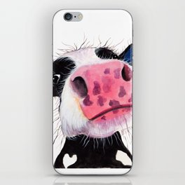 CoW PRiNT ANiMaL PRiNT ' THe NoSeY CoWS ' BY SHiRLeY MacARTHuR iPhone Skin