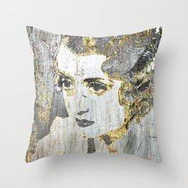 Silver Screen Bette Davis Throw Pillow