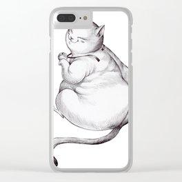 FatCat maneki neko Clear iPhone Case