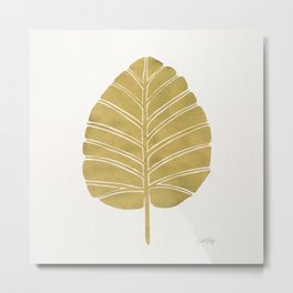 Elephant Ear Alocasia – Gold Palette Metal Print