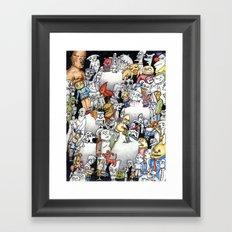 WhiteOuts on the Brain Framed Art Print