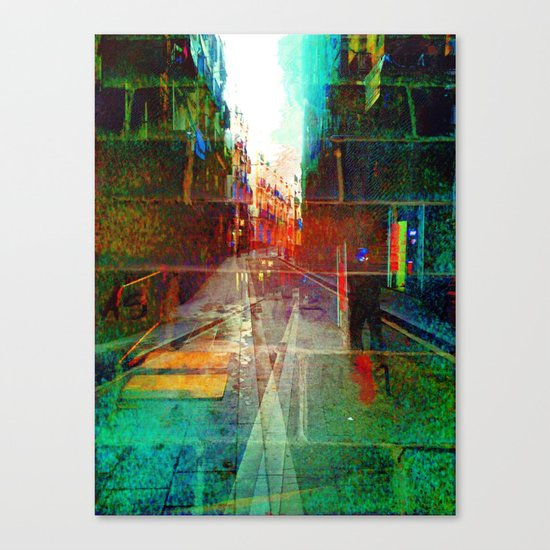 Roll overture ignition generation. Canvas Print