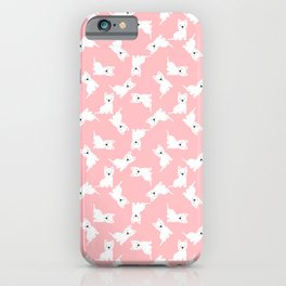 Westie Pink Pattern iPhone Case
