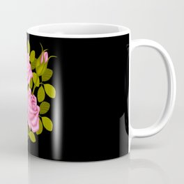 Painted Pink Roses Coffee Mug