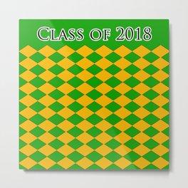 Class of 2018...Green , orange Metal Print