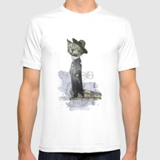 hey diddle diddle 2 MEDIUM Mens Fitted Tee White