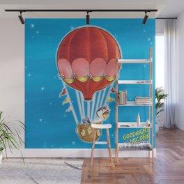Goodnight Unicorn Balloon Kid Wall Mural