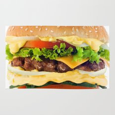 Cheeseburger YUM Rug