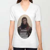 planet of the apes V-neck T-shirts featuring Planet of the Apes  by Rotton Cotton Candy