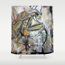 Peace, mantis Shower Curtain