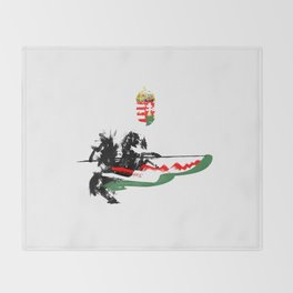 Hungarian Hussar Throw Blanket