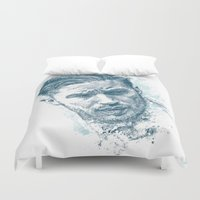 tom selleck Duvet Covers featuring Tom Hardy by Chadlonius