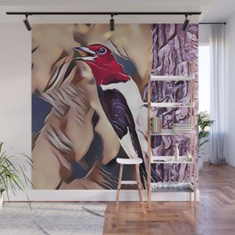 The Red Headed Woodpecker Wall Mural
