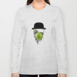 Magritte Skull Long Sleeve T-shirt