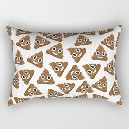 Pile of Poop Smiling Poo Emoji Pattern Rectangular Pillow