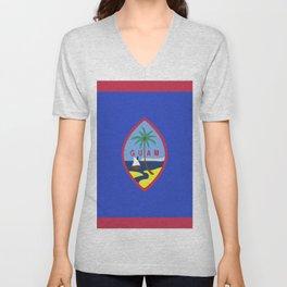 Guam flag emblem Unisex V-Neck
