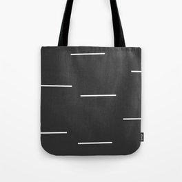 Black Mudcloth white dashes Tote Bag