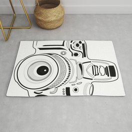 Black and White Camera Rug
