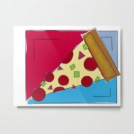 Geometric Pizza Metal Print