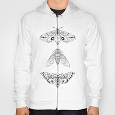 Geometric Moths Hoody