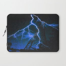 Blue Lightning Laptop Sleeve