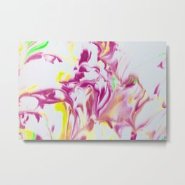 Pink Heat Wave Metal Print