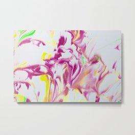 Pink Heat Wave Metal Print
