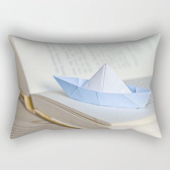 Little paper boat Rectangular Pillow
