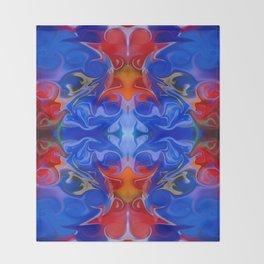 Blue Beginnings Abstract Pattern Artwork  Throw Blanket