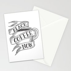 black coffee now Stationery Cards