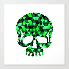 Triangle Camouflage Skull (WITHE) Canvas Print