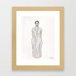 Catwalk model Framed Art Print