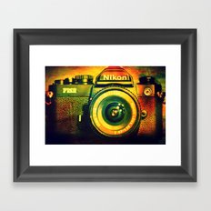 Vintage camera Framed Art Print