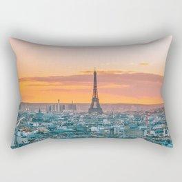 Sunset in Paris (Color) Rectangular Pillow