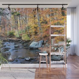 Autumn Woodlands Wall Mural